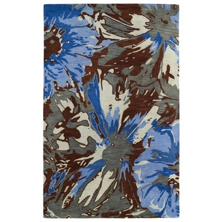 Hand-tufted Artworks Multi Floral Rug (9'6 x 13')