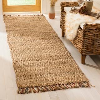 Safavieh Hand-woven Natural Fiber Natural/ Multi Jute Rug (2'6 x 8')