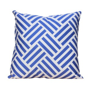 Auburn Textiles Crisscross Blue Printed Cotton Throw Pillow Cover