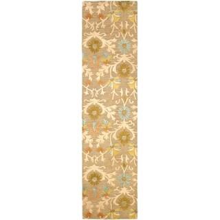 Safavieh Handmade Cambridge Moss/ Multi Wool Rug (2'6 x 14')