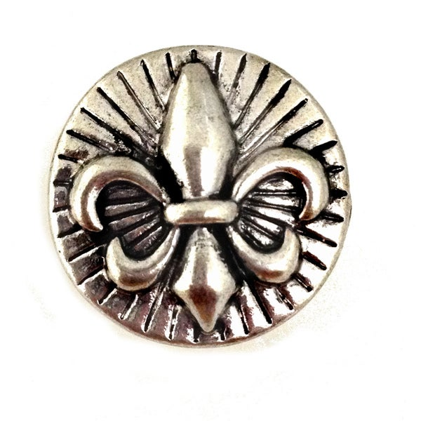 Bleek2sheek Snap-a-doo Fleur De Lis Snap Chunk Charm