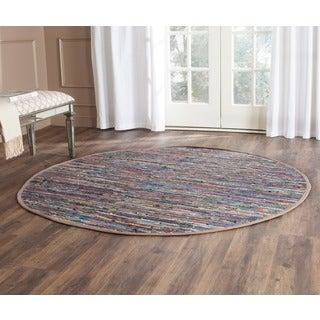 Safavieh Hand-woven Rag Rug Rust/ Multi Cotton Rug (4' Round)