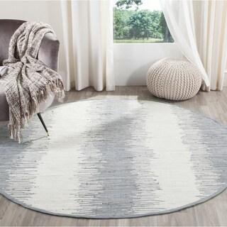 Safavieh Hand-woven Montauk Grey Cotton Rug (4' Round)