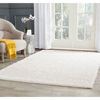 Safavieh Athens White Shag Rug (8' x 10')