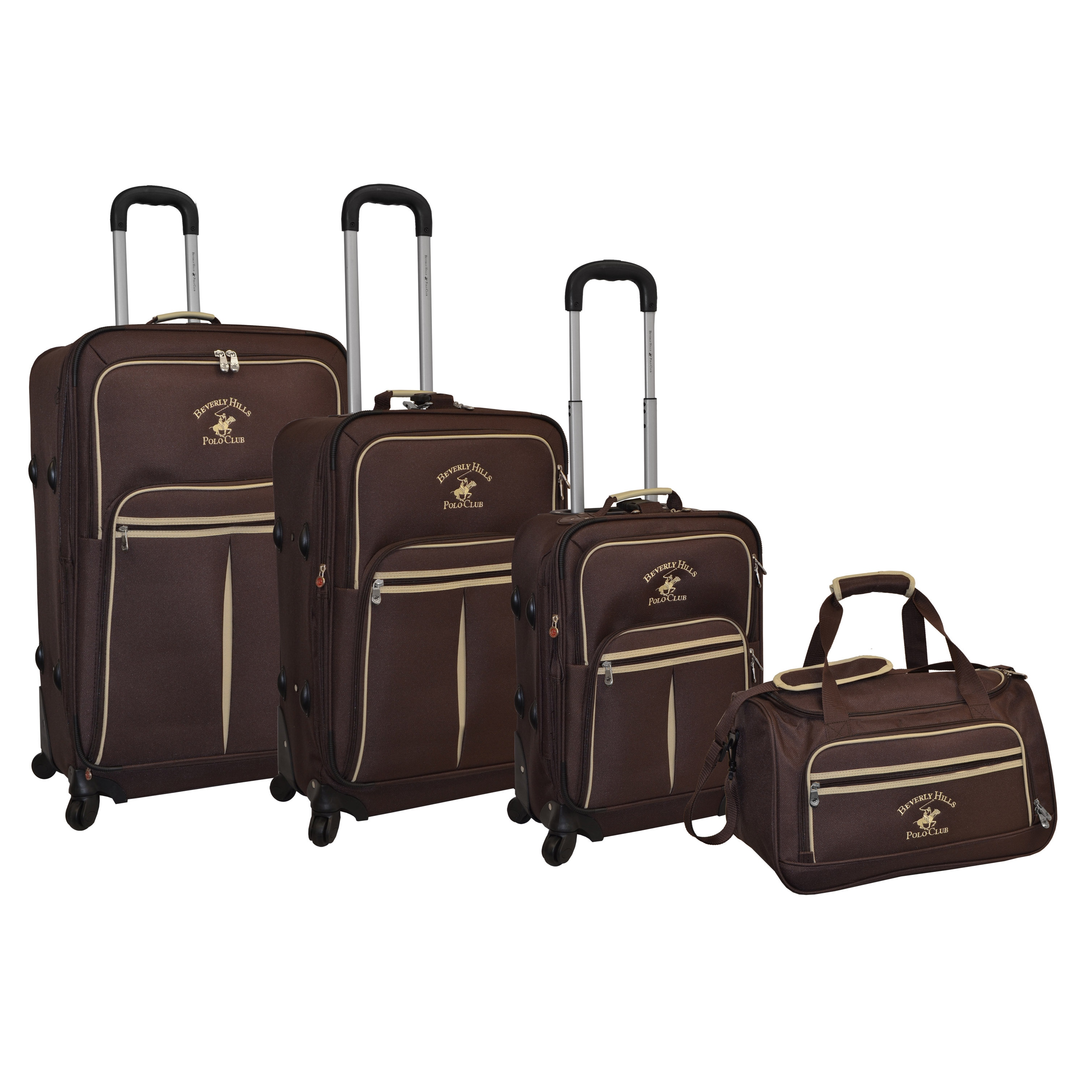 Beverly Hills Polo Club Pale Rider 4-Piece Spinner Luggage Set