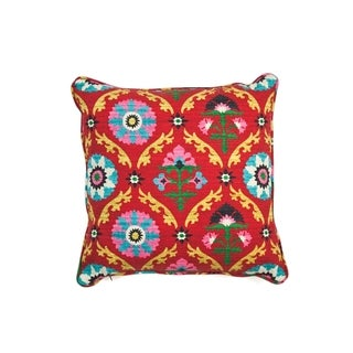 The Mayan Square Throw Pillow