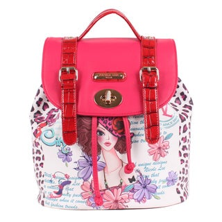 Nicole Lee Sunny White Print Backpack