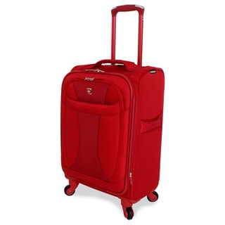 Wenger Lightweight Red 20-inch Carry On Upright Spinner Suitcase