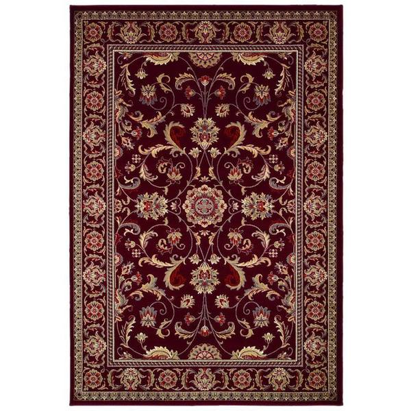 Couristan Odessa Capulet Red/ Ivory Rug (5'3 x 7'6)