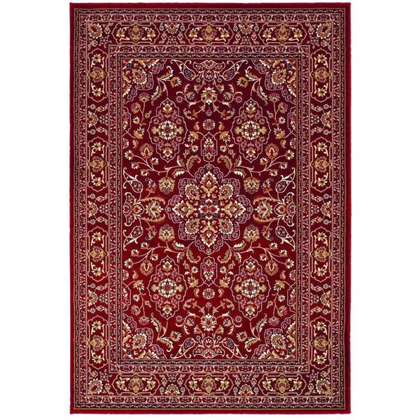 Couristan Odessa Dorset Red/ Ivory Rug (5'3 x 7'6)