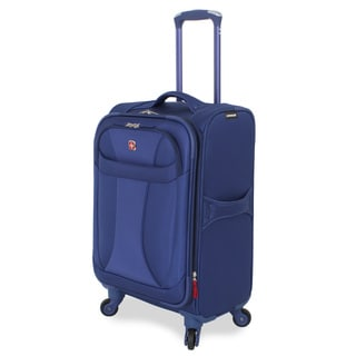 Wenger Lightweight Blue 20-inch Carry On Upright Spinner Suitcase
