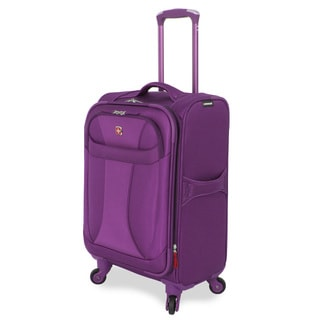Wenger Lightweight Purple 20-inch Carry On Upright Spinner Suitcase