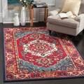 Safavieh Monaco Red/ Turquoise Rug (4' x 5'7)
