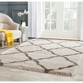 review detail Safavieh Belize Shag Taupe/ Grey Rug (8'6 x 12')