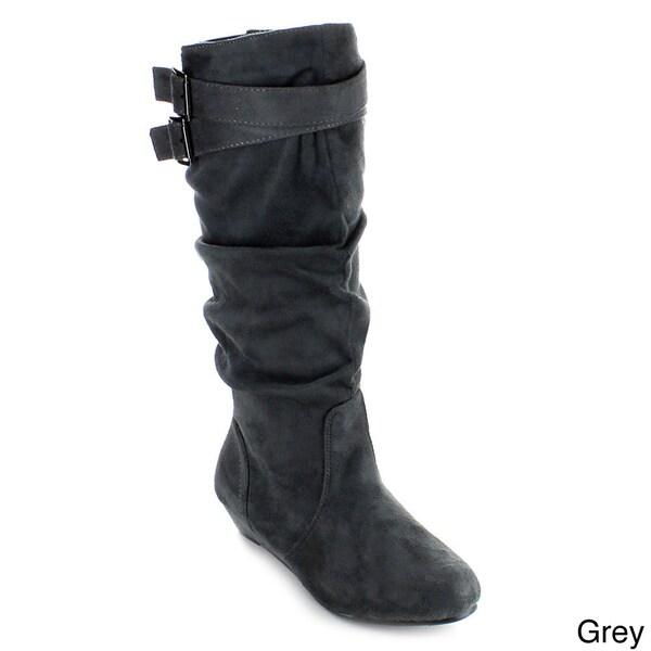 Anna Women's 'Juno-2' Slouchy Side Zipper Knee-high Boots