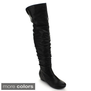 Fashion Focus Women's 'Nancy-325' Slouchy Over-the-Knee Boots