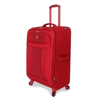 Wenger Lightweight Red 24-inch Spinner Upright Suitcase