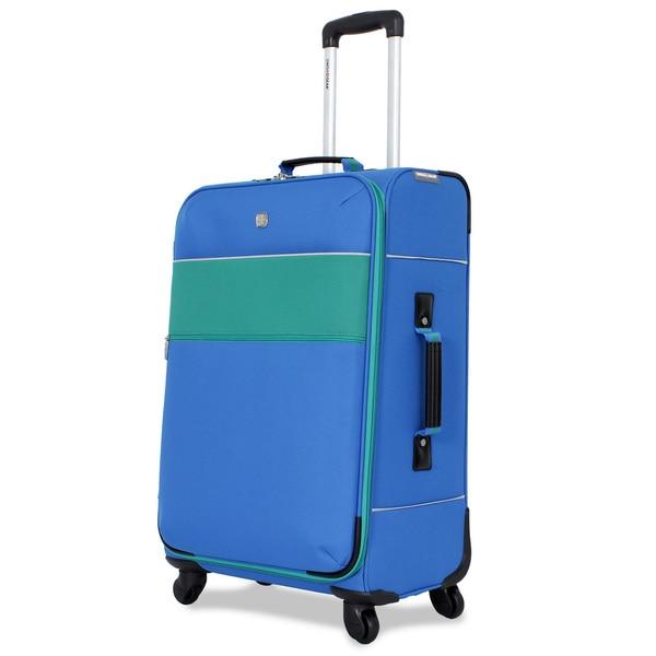 SwissGear Blue 24-inch Medium Upright Spinner Suitcase