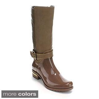 Forever Women's 'Clara-20' Two-tone Knee-high Rain Boots