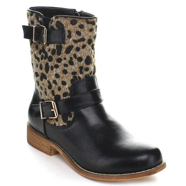 Miim Women's 'Randy-05' Block Heel Mid-calf Boots