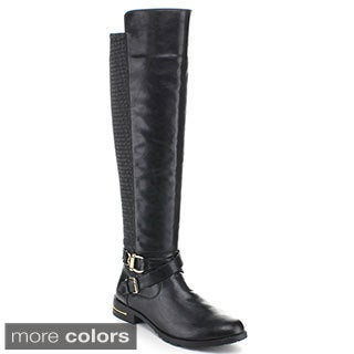 Miim Women's 'Yara-04' Dual Texture Riding Boots