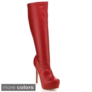 Blossom Women's 'Nelson-89' Concealed Platform Knee-high Boots