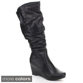 Blossom Women's 'Miri-4' Slouchy Wedge Boots
