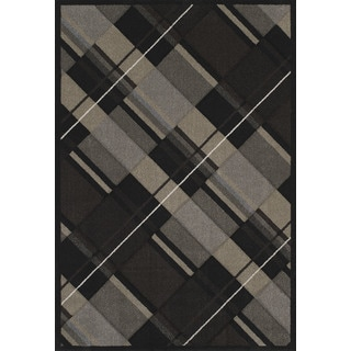 "Townshend Charissa Black Hand Carved Area Rug (7'10"" x 11'2"")"