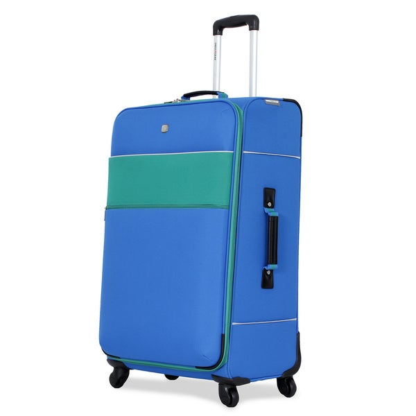 SwissGear Blue 28-inch Upright Spinner Suitcase