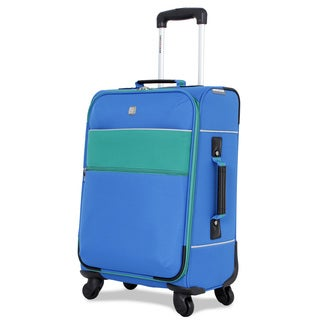 SwissGear Blue 20-inch Carry On Upright Spinner Suitcase