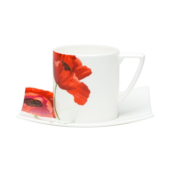 Summer Sun Tea Cup and Saucer Sets (Set of 6)