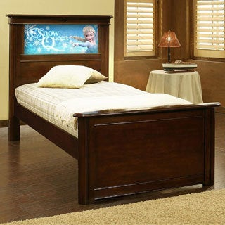 LightHeaded Beds Riviera Twin Bed with back-lit LED Headboard Imagery - Cheshire Cherry
