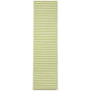 Petite Stripe Green Outdoor Rug (2'X8')