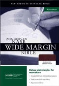 Zondervan New American Standard Bible Wide Margin Bible: Burgundy Bonded Leather (Paperback)