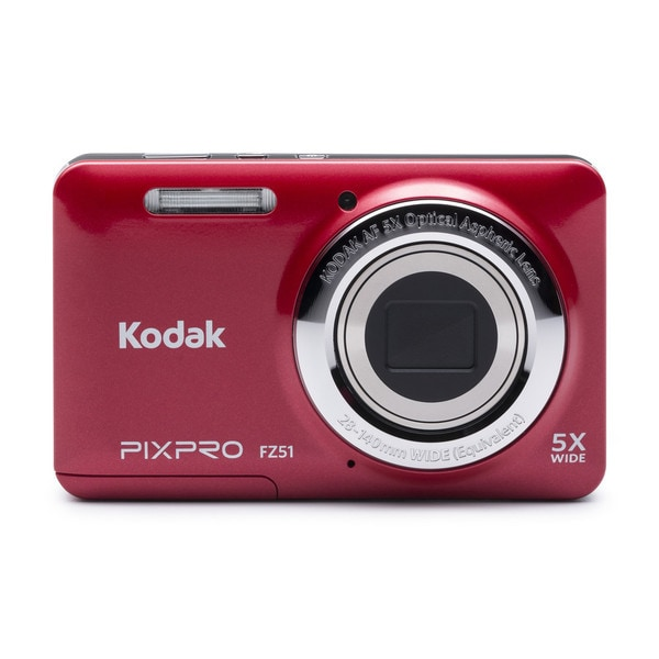 Kodak PIXPRO FZ51 16MP Red Digital Camera