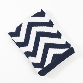 Knitted Chevron Design Baby Blanket