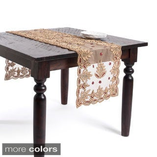Hand Beaded Design Table Runner or Topper