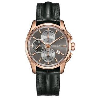 Hamilton Men's H32546781 Jazzmaster Auto Grey Dial Chronograph Watch