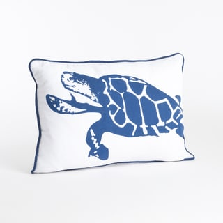 Turtle Design Feather Filled Throw Pillow