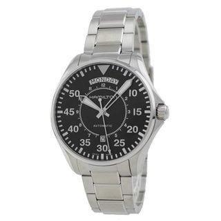 Hamilton Men's H64615135 Pilot Day Date Black Watch