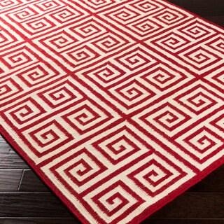 Hand-woven Salinas Flatweave Wool Rug (8' x 11')