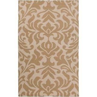 Hand-woven Bennet Damask Flatweave Wool Rug (5' x 8')