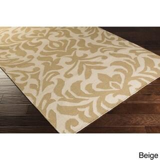 Hand-woven Bennet Damask Flatweave Wool Rug (8' x 11')