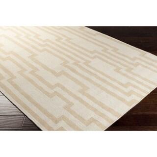 Hand-woven Heaton Abstract Flatweave Wool Rug (8' x 11')