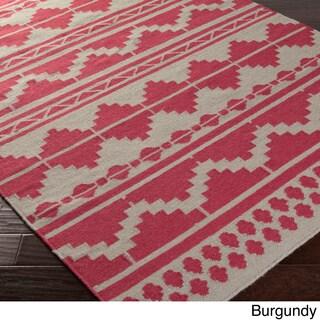 Hand-woven Billings Flatweave Southwestern Wool Rug (2' x 3')