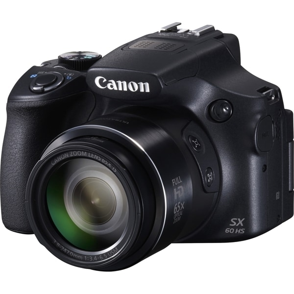 Canon PowerShot SX60 HS 16.1 Megapixel Bridge Camera - Black