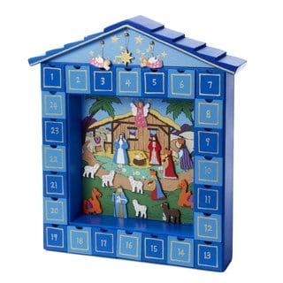 Kurt Adler 14-inch Wooden Christmas Nativity Advent Calendar