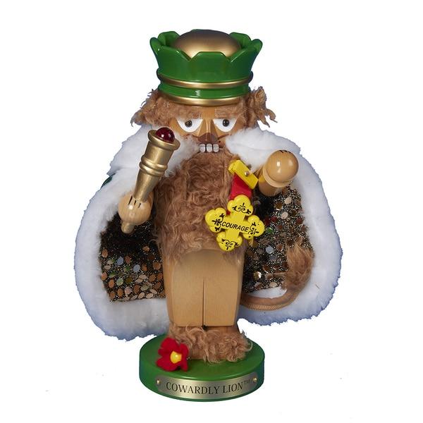 Kurt Adler 11-inch Steinbach Chubby Wizard of Oz Cowardly Lion Nutcracker