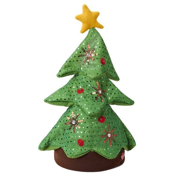 Kurt Adler 18-inch Battery-operated Singing and Dancing Plush Christmas Tree