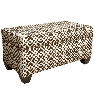 Made to Order Brown Storage Bench